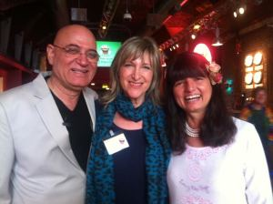 Melanie with Dr. Madan and Madhuri Kataria the founders of Laughter Yoga